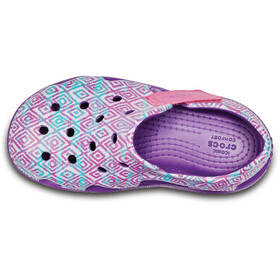 Crocs Swiftwater Wave Graphic - Sandalias Niños - rosa/violeta